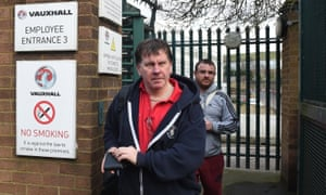 Workers leave Vauxhall's plant in Luton