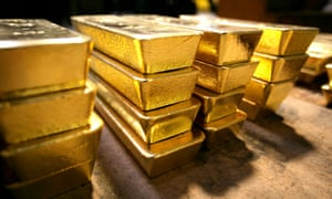 Gold bars from a plant in southern Switzerland.