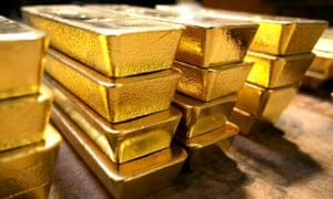 Gold bars in Switzerland where Italian international tax dodgers stashed 70 of their undeclared wealth