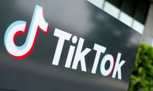 The TikTok logo outside the company's U.S. head office in Culver City, California.