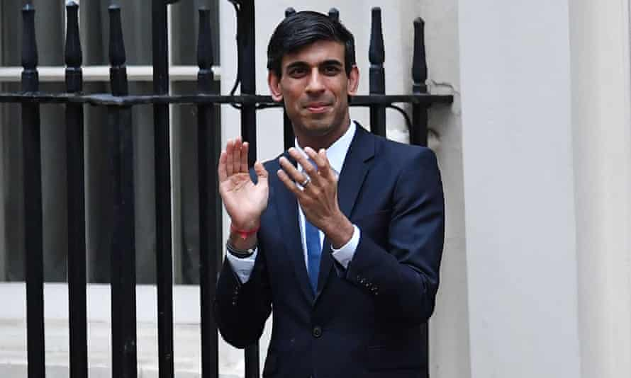 Rishi Sunak clapping for care workers outside 11 Downing Street last week.