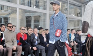 Louis Vuitton x Supreme on the catwalk in 2017.
