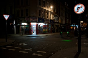 A corner shop remains open in Soho