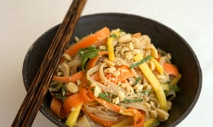 David Atherton's smoky rice noodle salad.