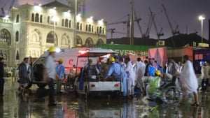 Search and rescue teams and medical workers from the Saudi Red Crescent have been sent to the scene.