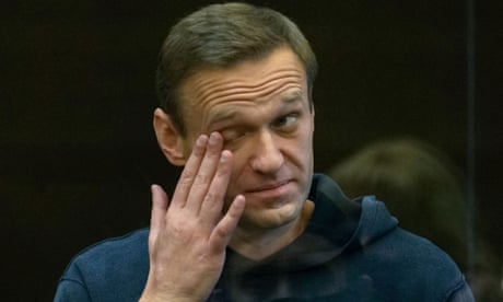 Russian opposition leader Alexei Navalny jailed for two years and eight months