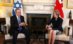 Benjamin Netanyahu and Theresa May.
