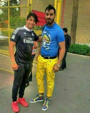 Sosha Makani wearing yellow trousers