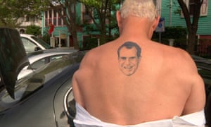 Stone and his notorious Richard Nixon tattoo.