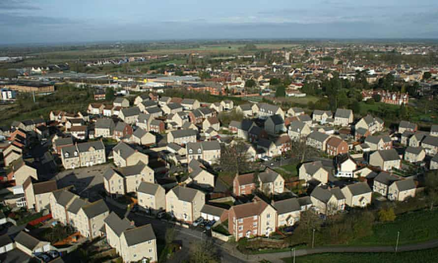 Bicester looks an ideal location for new homes ... aerial view of the town