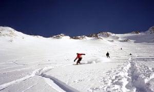 snowboarders Chamonix