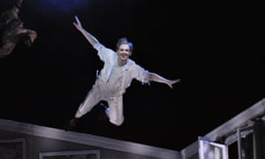 Image of infant psychology … Lestyn Morris as Peter Pan in Peter Pan at the Welsh National Opera in 2015.
