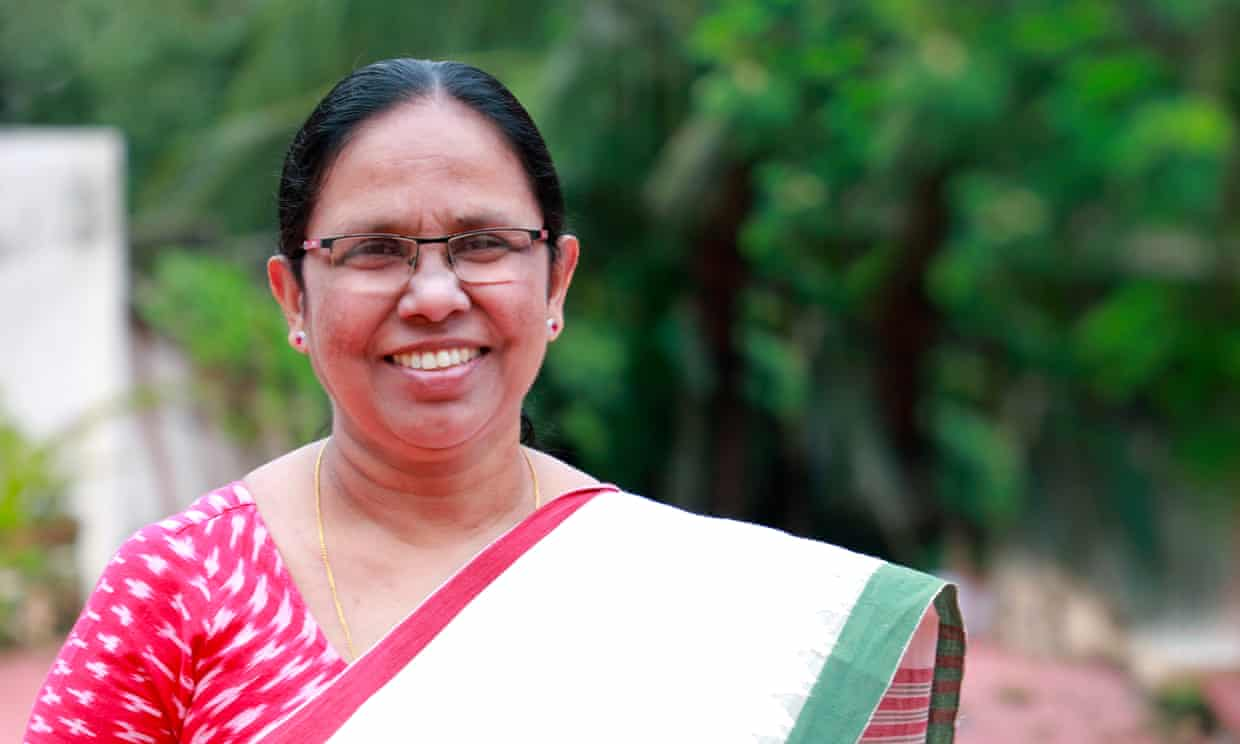 'Our clinics for respiratory disease meant we could look out for community transmission': KK Shailaja, health minister.