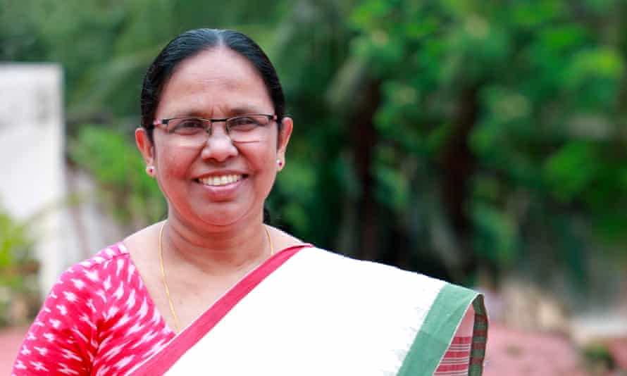 KK Shailaja, health minister for Kerala, India