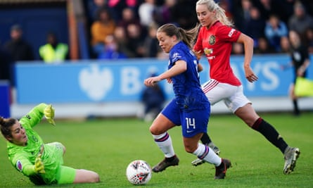 Chelsea's Fran Kirby last game was against Manchester United in November.