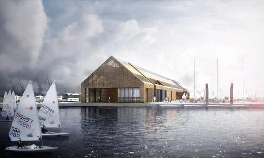 Artist's impression of the sailing and boating centre
