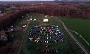 An aerial view of the drive-in in Marl, Germany