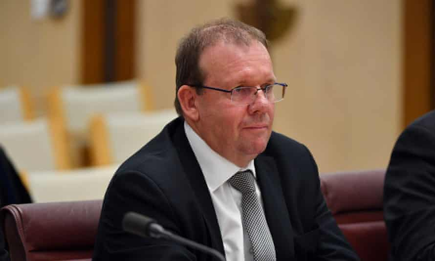 File photo of auditor general Grant Hehir at a Senate inquiry into sports grants