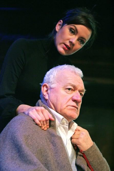 Philip Voss (Professor Serebryakov) and Rachael Stirling (Yelena) in Uncle Vanya at Wilton's Music Hall, London, in 2007