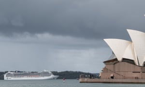 The MSC Magnifica Cruise Ship whe nit was anchored in Sydney, Monday, 16 March, 2020.