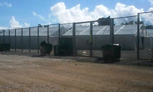 Immigration detention camp in Nauru.