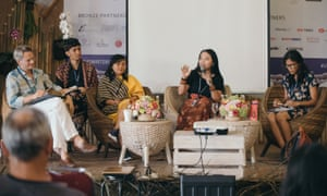 A panel at Ubud Writers and Readers festival 2018.