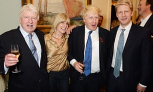 Boris Johnson with father Stanley and siblings Rachel and Jo in 2014