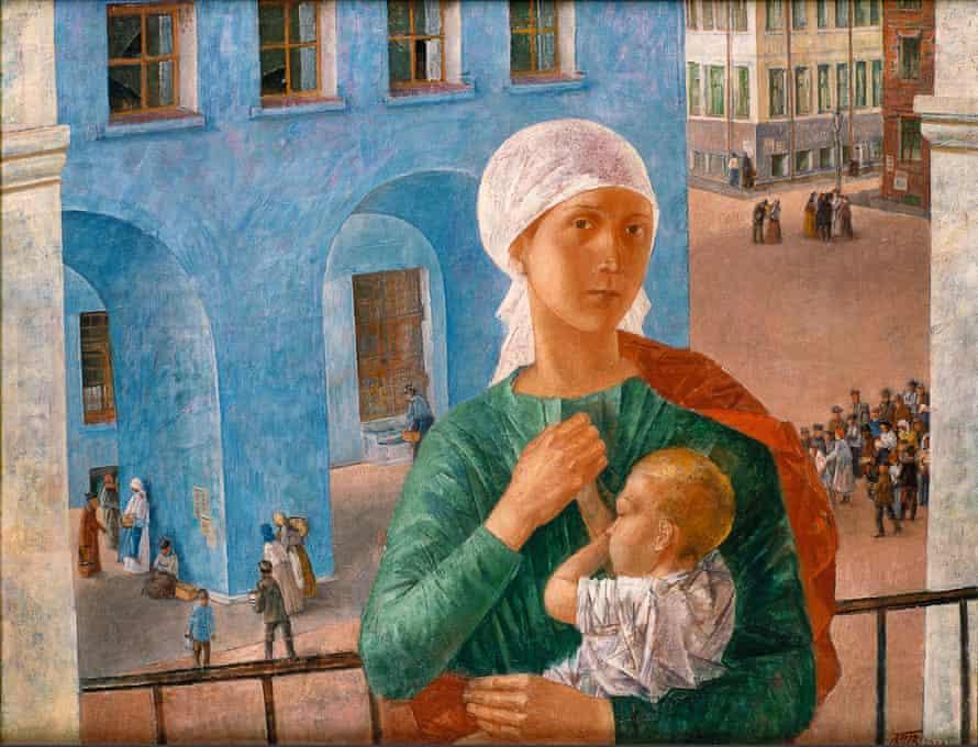 Kuzma Petrov-Vodkin's Petrograd Madonna (1920).