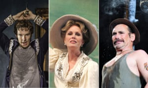 Benedict Cumberbatch in Hamlet, Joanna Lumley in The Cherry Orchard and Mark Rylance in Jerusalem