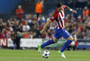 Atlético Madrid's Fernando Torres shows off some silky skills.