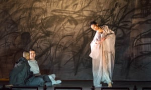 Davone Tines, Philippe Jaroussky and Nora Kimball-Mentzos in the Dutch National Opera;s production of Kaija Saariaho's Only the Sound Remains, directed by Peter Sellars.