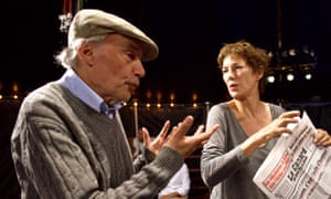 Jacques Rivette with Jane Birkin on the set of 36 Vues du Pic Saint Loup (Around a Small Mountain, 2009), his final film.