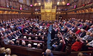 Peers gathered in the House of Lords on Monday, where they voted to delay the government's cuts to tax credits
