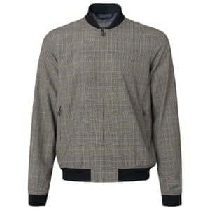 Tailored Check Baseball Jacket £55