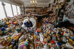 Brussels, BelgiumCatherine Bloemen, 86, sits among more than 20,000 stuffed and plastic toys, she is collecting for more than 65 years, in her house