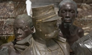 Busts on display at the Africa Museum in Tervuren.