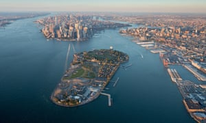 governors island overhead view