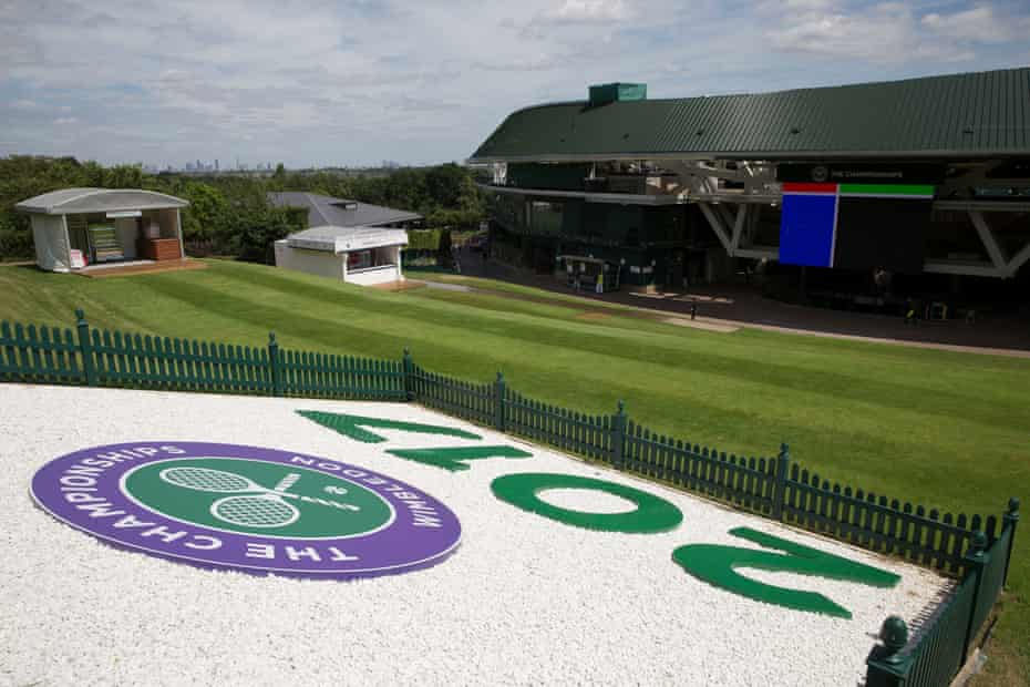 Henman Hill (now also know as Murray Mount) ready for this year's tournament.