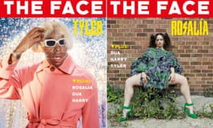 Face covers ... (from left) Tyler, the Creator photographed by Charlie Engman; Rosalia, photographed by Juergen Teller.