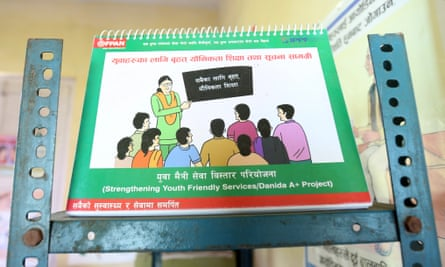 A booklet from a Nepalese family planning group.
