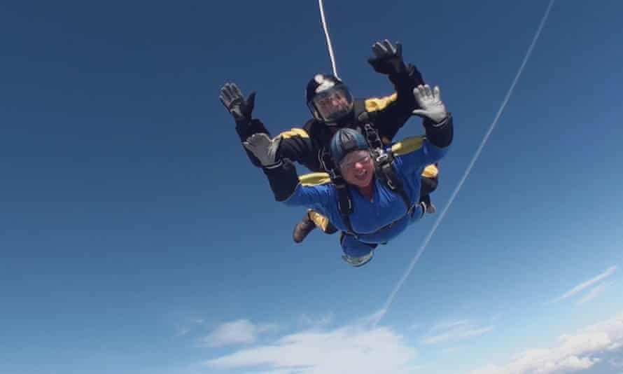 Barry West skydiving.