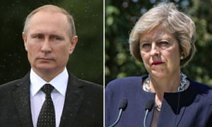 How will Theresa May proceed with Putin?