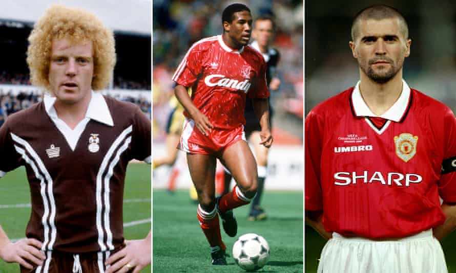 (From left) Coventry's Ian Wallace, John Barnes at Liverpool and Roy Keane in his Manchester United days