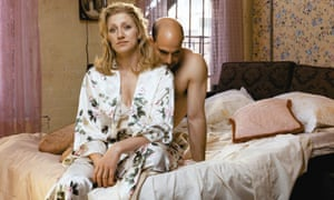 Edie Falco and Stanley Tucci in the Broadway revival of Frankie and Johnny in the Clair de Lune in 2002.