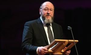 The chief rabbi, Ephraim Mirvis