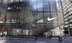 A closed Nike store is pictured in Manhattan following the coronavirus outbreak.