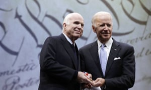 John McCain with Joe Biden in 2017.