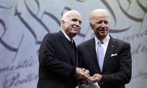 John McCain and Joe Biden in October, 2017.