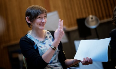 Hearing voices … Laura Elphinstone in rehearsals for My Country.