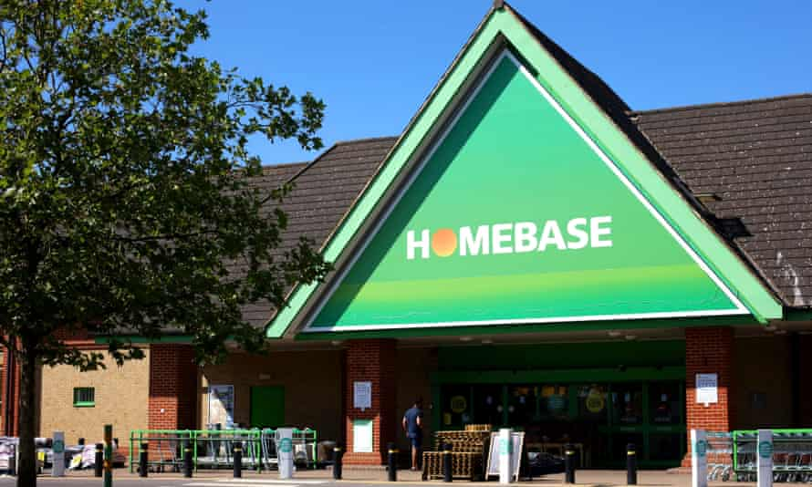 Homebase store in North Finchley, London